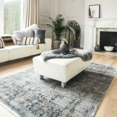 Toros Grace Frost Grey Rugs By Gooch Oriental