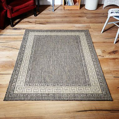 Greek Key Mat - Grey