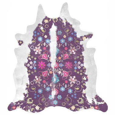 Mineheart - Gypsy Faux Cowhide Rug in Purple