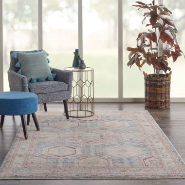 Homestead Rugs in Light Blue Multi by Nourison HMS01
