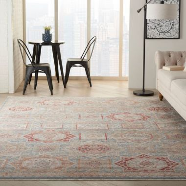Homestead Rugs in Blue / Multi by Nourison HMS02