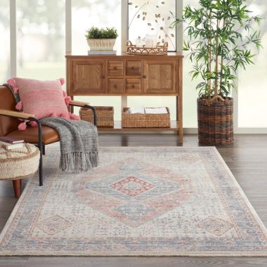 Homestead Rugs in Blue / Grey by Nourison HMS03