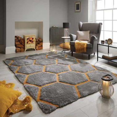 Verge Honeycomb in Grey / Ochre