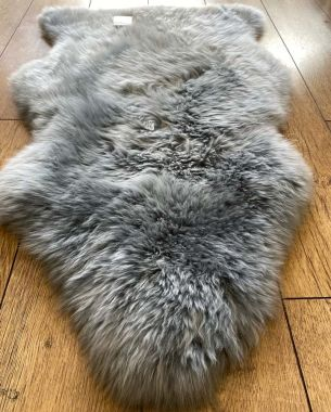 Pure Sheepskin New Wool - Light Grey