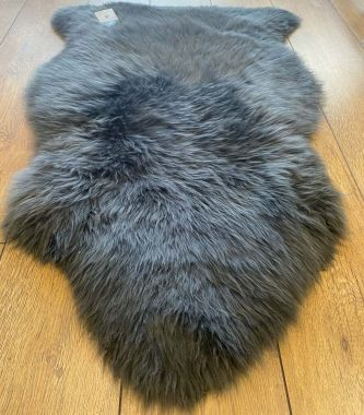 Pure Sheepskin New Wool - Dark Grey