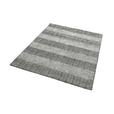 Ives Zigzag Flat Weave in Grey