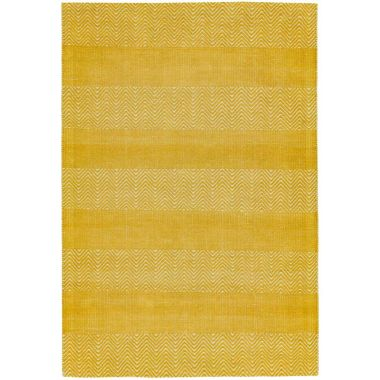 Ives Zigzag Flat Weave in Yellow
