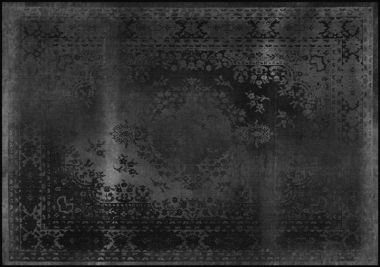 Mineheart - Kashan Remix Landscape Rug in Black