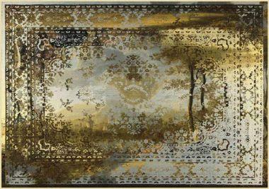 Mineheart - Kashan Remix Landscape Rug in Gold