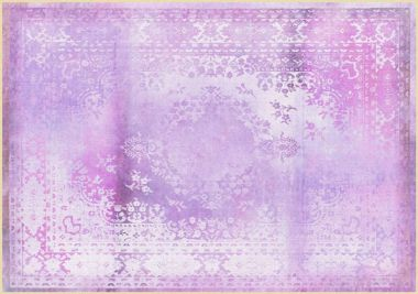 Mineheart - Kashan Remix Landscape Rug in Purple