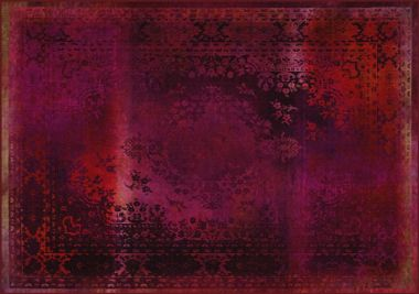 Mineheart - Kashan Remix Landscape Rug in Red