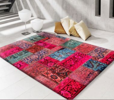 Modern Persian Patchwork Pink