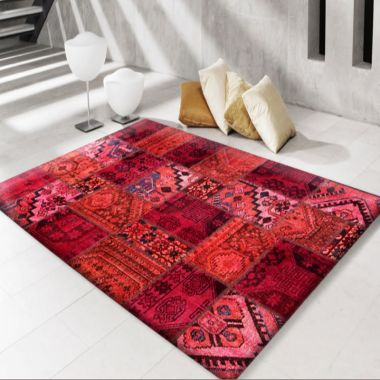 Modern Persian Patchwork Red