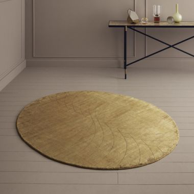 Linie Momento Oval Rugs - Mustard