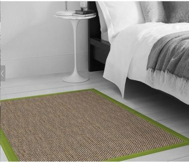 Mumbia - Apple Green Sisal Border Rugs