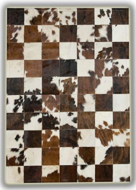 Patchwork Leather Cubed Cowhide - Normandy Cow 3 colours