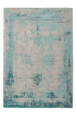 Distressed Medallion In Turquoise