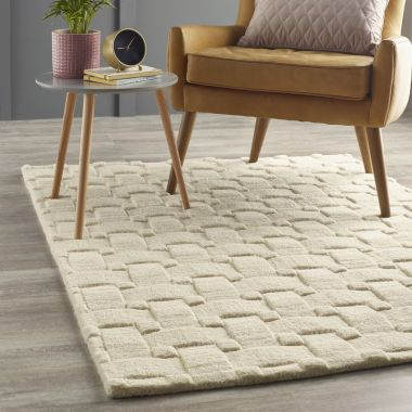 Basket Weave 3D in Cream