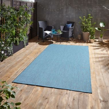 Pop Blue Outdoor rug