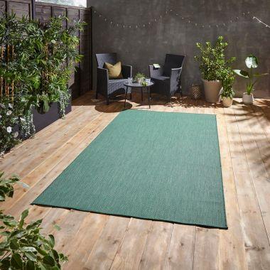 Pop Dark Green Outdoor rug
