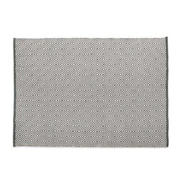 Hug Rug Woven Diamond - Warm Grey