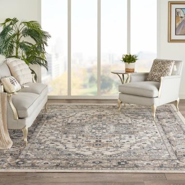 Quarry Rugs in Ivory / Grey by Nourison QUA05