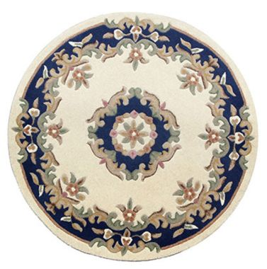 Mahal Round - Cream Blue