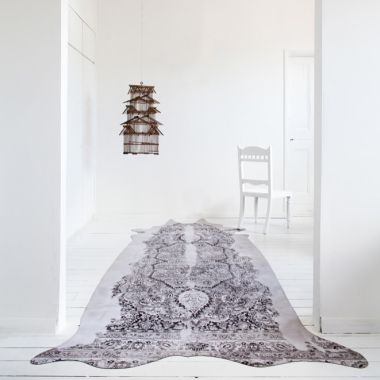 Mineheart - Super Long Persian Faux Cowhide Rug in Grey