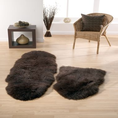 Sheepskin In Chocolate Brown