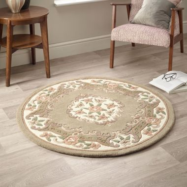 Shensi Circle Chinese Rugs - Beige