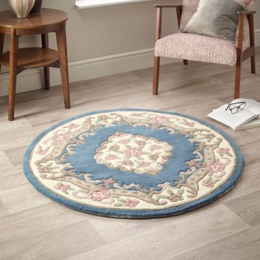 Shensi Circle Chinese Rugs - Blue