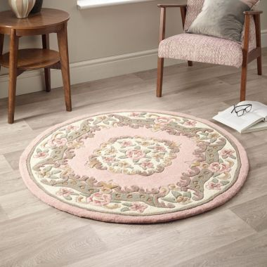 Shensi Circle Chinese Rugs - Pink