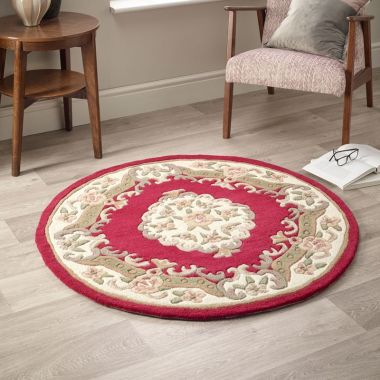 Shensi Circle Chinese Rugs - Wine