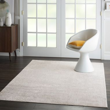 Silky Textures Rug in Ivory / Grey SLY01