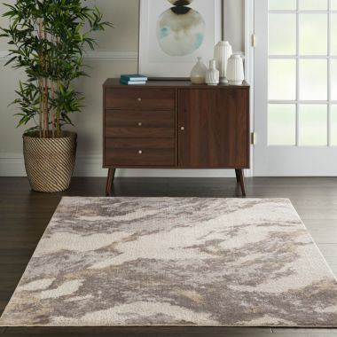 Silky Textures Rug in Brown / Ivory SLY03