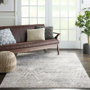 Silky Textures Rug in Ivory / Beige SLY07