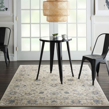 Silky Textures Rug in Ivory SLY09