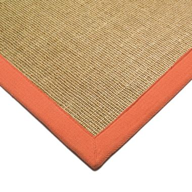 Sisal - Linen With Orange Border
