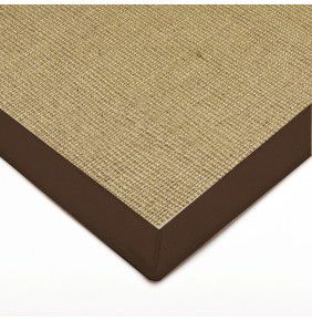 Sisal - Linen With Chocolate Border
