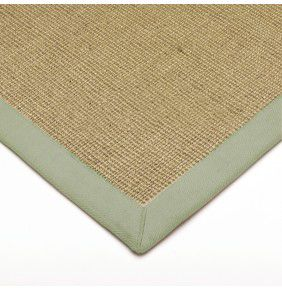 Sisal - Linen With Sage Border