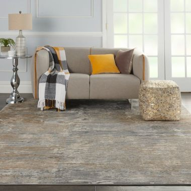 Solace Rugs in Grey / Beige by Nourison SLA01
