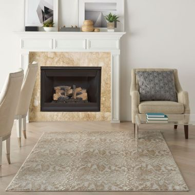 Solace Rugs in Ivory / Beige by Nourison SLA06