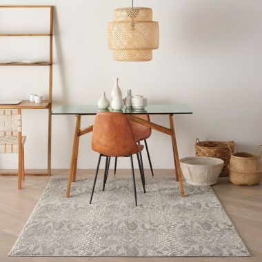 Solace Rugs in Ivory / Grey by Nourison SLA06