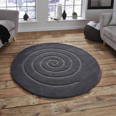 Spiral - Grey Round