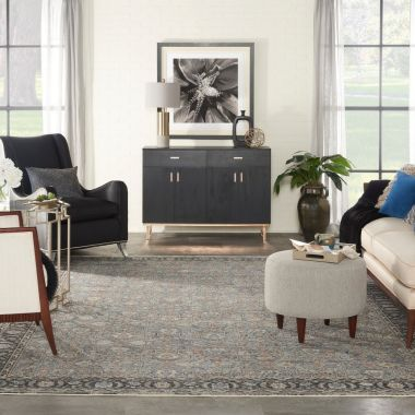 Starry Nights Rugs in Grey / Navy by Nourison STN10
