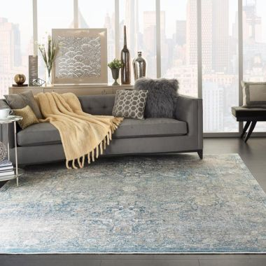 Starry Nights Rugs in Cream / Blue by Nourison STN01
