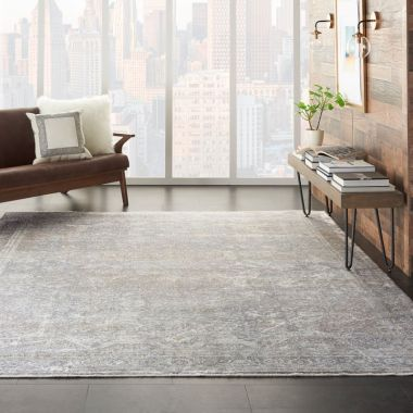 Starry Nights Rugs in Silver / Cream by Nourison STN03