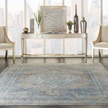 Starry Nights Rugs in Cream / Blue by Nourison STN06