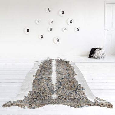 Mineheart - Super Long Persian Faux Cowhide Rug