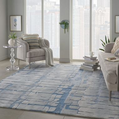 Symmetry Rugs in Blue / Grey SMM04